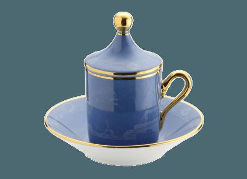 Richard Ginori 1735 Antico Doccia Oriente Italiano Pervinca Espresso Cup $150.00