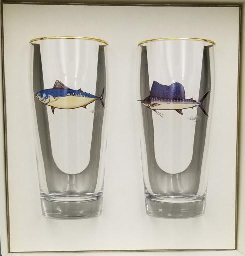 Richard E Bishop  Game Fish Pilsner (Set of 2) $60.00