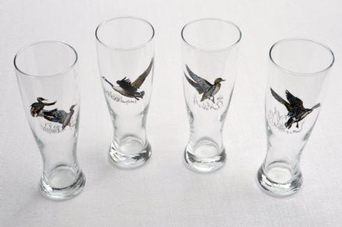 Richard E Bishop  Waterfowl Pilsner (Set of 4) $55.00