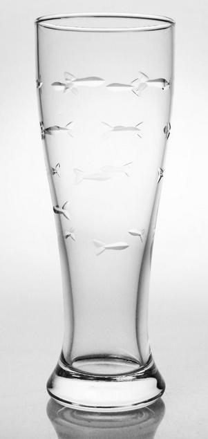 Rolf Glass  School Of Fish Pilsner 4/set $68.00