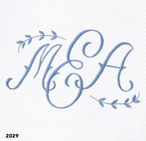 Matouk  Monogram 2029 Embroidered 12' $144.00
