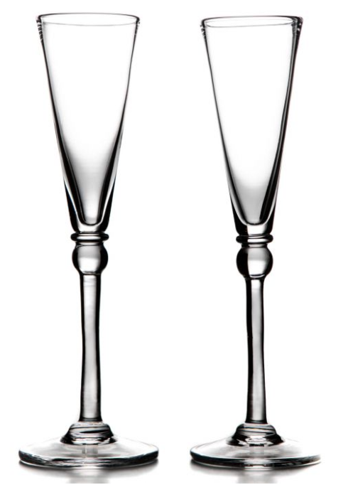 Simon Pearce  Hartland Pair Champagne Glasses $150.00