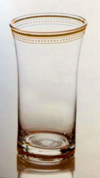 $80.00 Set of 4 Clear Glass w/ 22K gold trim