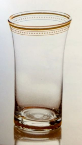 $80.00 Set of 4 Clear Glass w/ 22K gold trim