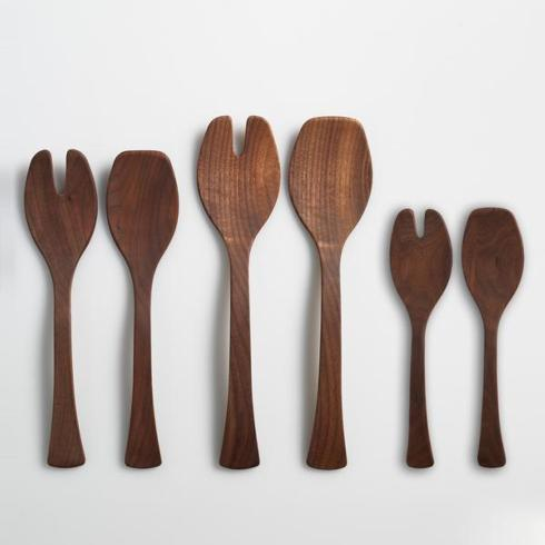 Andrew Pearce  Salad Servers Black Walnut 13' $50.00