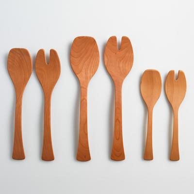 Andrew Pearce  Salad Servers Cherry Wood 13\' $45.00