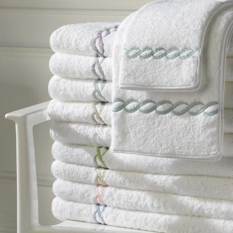 Matouk  Classic Chain Bath Classic Chain Wash Cloth $29.00