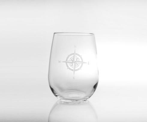 Rolf Glass  Compass Rose Stemless Wine Set of 4 $64.00
