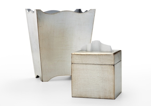 The Boutique Exclusives   La Brazel Tissue Cover, Silver $145.00