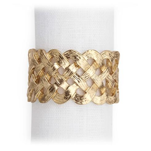 L'Objet  Braid Gold Napkin Rings 4/set $135.00