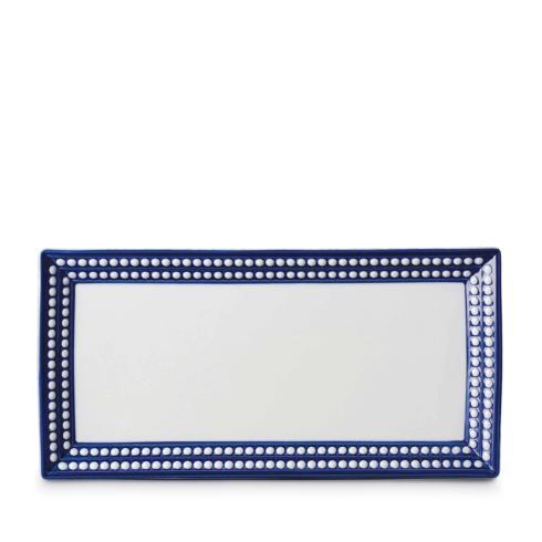 L'Objet  Perle Blue Rectangle Platter $330.00