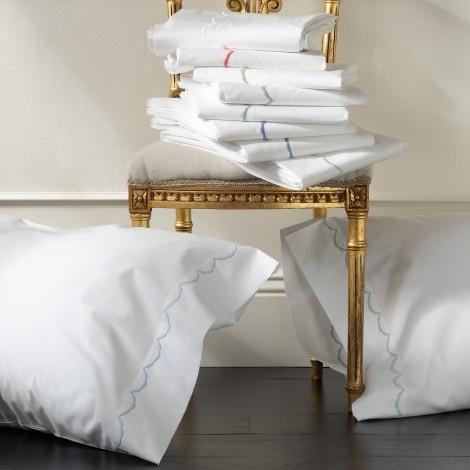 Matouk  Scallop Matouk Scallop Queen Flat Sheet $109.00