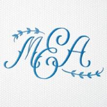 Matouk  Monogram 2029 Embroidered For Hand Towel  $30.00