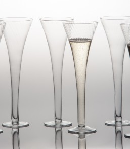 $74.00 Set of 6 Optic Champagne Flutes
