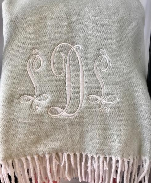 Matouk  Pezzo Throw with monogram $100.00