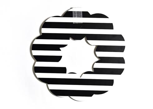 Happy Everything by Coton Colors  Stripe Black Stripe Big Wooden Wreath $79.95
