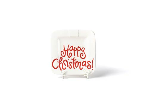 Happy Everything by Coton Colors  Small Dot White Small Dot Happy Christmas Mini Platter $49.95
