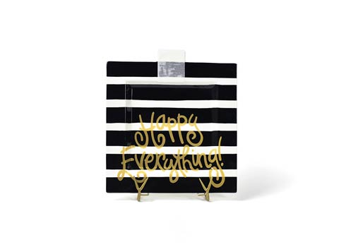 Happy Everything by Coton Colors  Stripe Black Stripe Happy Everything! Big Square Platter $69.95