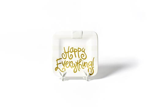 Happy Everything by Coton Colors  Stripe White Stripe Happy Everything! Mini Platter $49.95
