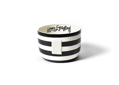 Happy Everything by Coton Colors  Stripe Black Stripe Happy Everything Big Bowl $69.95