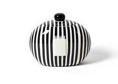 Happy Everything by Coton Colors  Stripe Black Stripe Big Cookie Jar $84.95