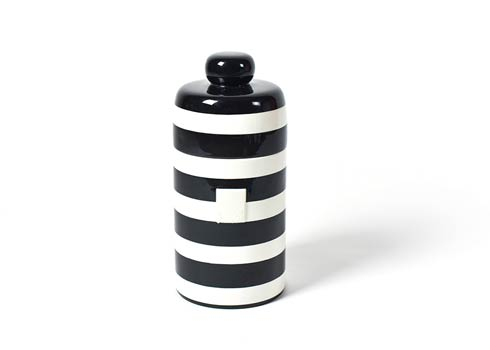 Happy Everything by Coton Colors  Stripe Black Stripe Mini Canister $69.95