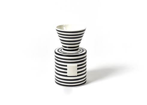 Happy Everything by Coton Colors  Stripe Black Stripe Mini Vase $42.95
