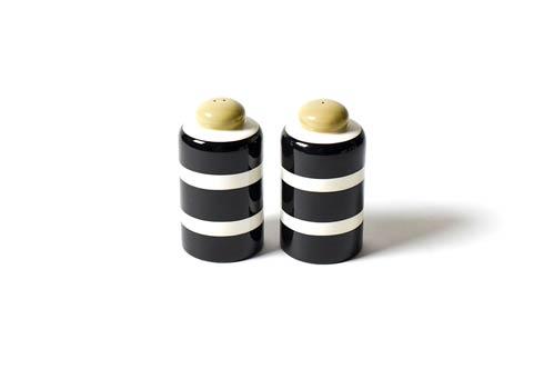 Coton Colors  Deco Black Plank Column Salt and Pepper Shakers $22.95