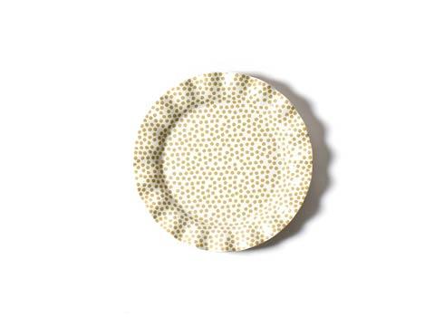 Coton Colors  Neutral Nouveau Cobble Small Dot Ruffle Dinner Plate $27.95