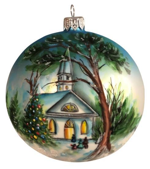 "Hand Painted Tree 4"" ornament"