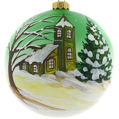 $49.00 Handpainted Cabin 6""