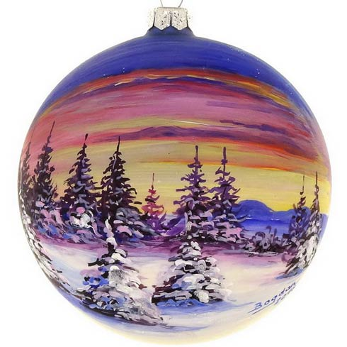 $29.00 Handpainted Sunset 4""