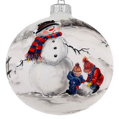 "$39.95 Handpainted Snowman 4"""