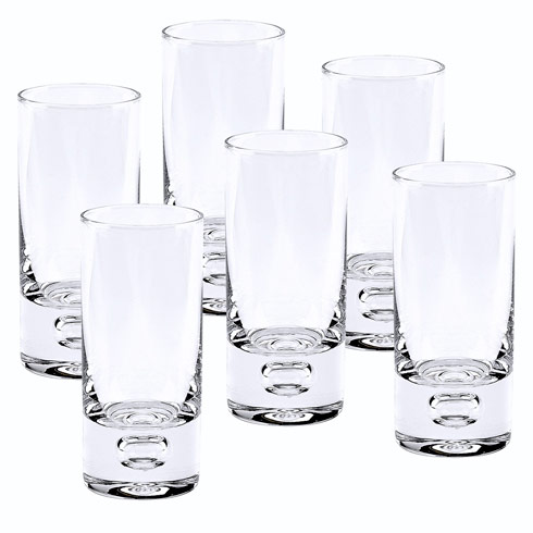 $69.00 Galaxy 6 Pc Shot or Vodka Glass Set 3 oz. - H4""