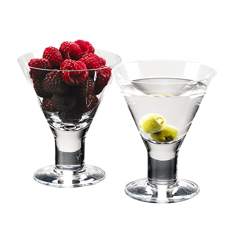 $54.95 Caprice Mouth Blown Set of 4 Martini or Dessert Servers 6 Oz. - H4.5""