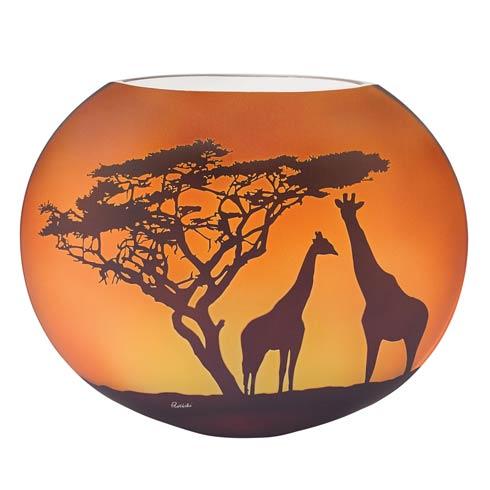 Limited Edition Giraffe Savannah European Mouth Blown and Hand Decorated Vase 9