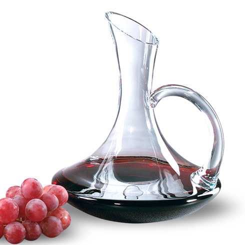"Badash  Pitchers Decanters & Ice Buckets Tristan Mouth Blown Lead Free Crystal Handled Red Wine Carafe 32 oz. - H11"" $69.00"