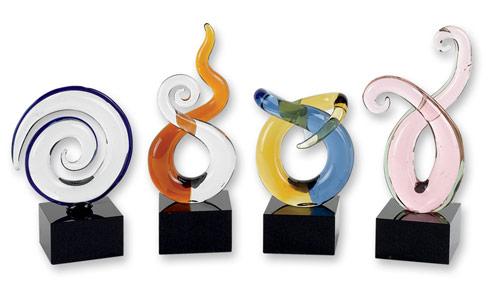 4 Piece Mini Swirl Centerpiece H4-6