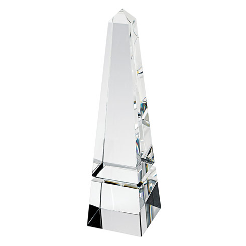 "$99.95 Hand Crafted Crystal 12"" Obelisk"