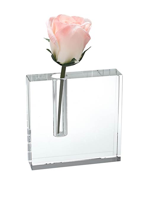 The Block Handcrafted Crystal  Bud Vase 6 x 6""