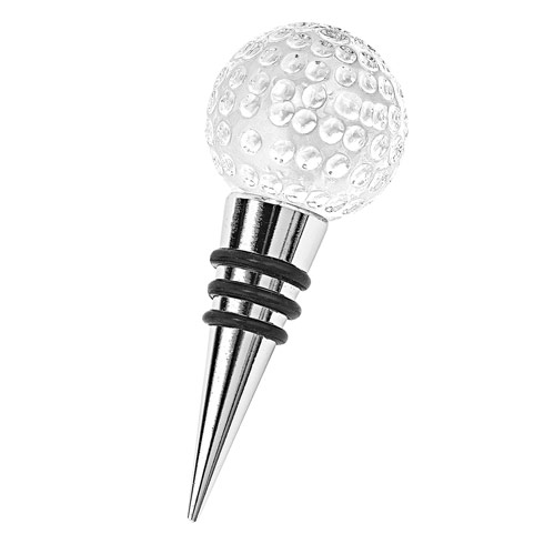 $16.95 Crystal Golf Ball Bottle Stopper