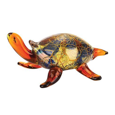 "$45.00 Firestorm Murano Style Art Glass Turtle L5"" x H3"""