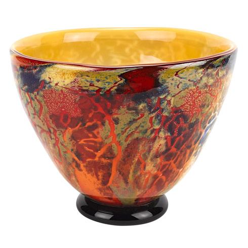 """$169.00 Firestorm Murano Style Art Glass Bowl D12"""" X H7"""""""