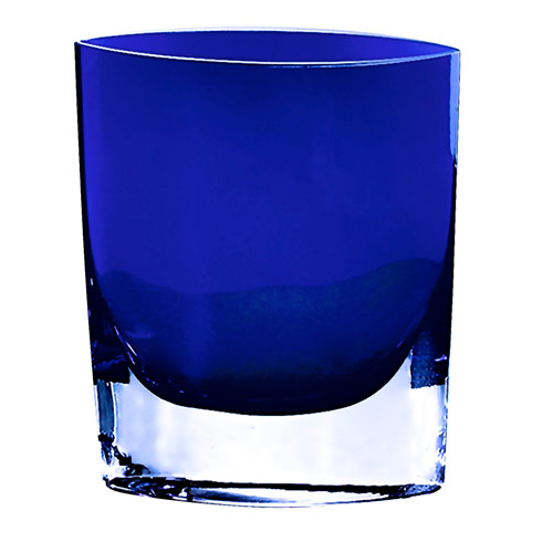 "$69.00 Samantha Amber European Mouth Blown 8"" Cased Glass Vase"