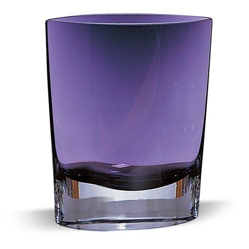 "$69.00 Samantha Violet European Mouth Blown Glass  8"" Vase"
