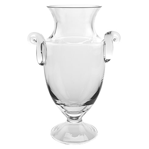 "$99.00 Champion European Mouth Blown Crystal Trophy 10"" Vase ."