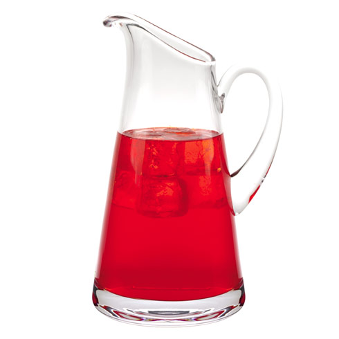 $69.00 Hampton European Mouth Blown Lead Free Crystal Pitcher 54oz -H10.5 inch