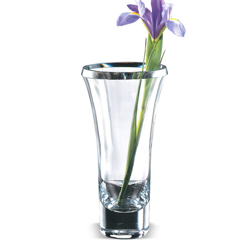 $129.00 Trillion 11 in. European Mouth Blown Thick Walled Beveled Edge Lead Free Crystal  Vase*eled Vase