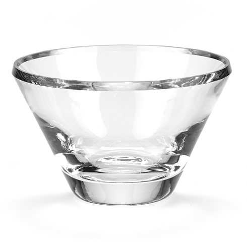 $99.00 Trillion  European Mouth Blown Crystal 8 inch Beveled  Bowl