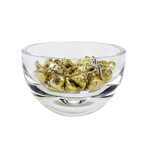 Penelope European Mouth Blown Lead Free Crystal 6 in. Bowl